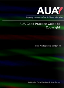 Front cover of AUA copyright guide
