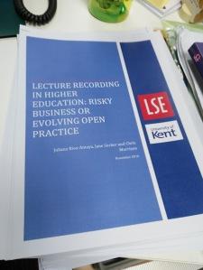 Lecture recording survey