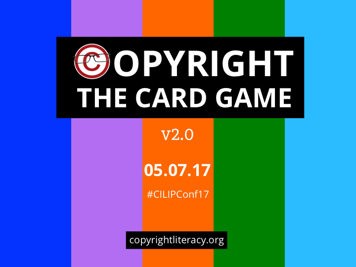 copyrightas part of our work we have developed a new engaging approach to copyright education sessions for those of you who have ever delivered copyright training